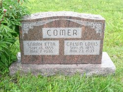 Sarah Etta <I>Hoover</I> Comer