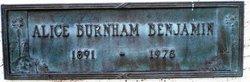 Alice <I>Burnham</I> Benjamin