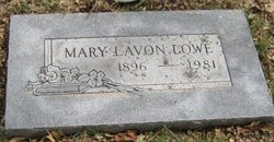 Mary Lavon Lowe
