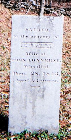 """Elizabeth """"Betsey"""" <I>Yeoman</I> Converse"""