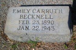 Emily <I>Carruth</I> Becknell