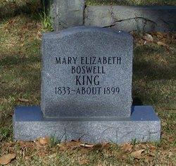 Mary Elizabeth <I>Boswell</I> King