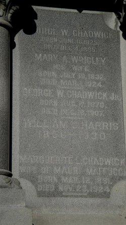 Mary A. <I>Wrigley</I> Chadwick