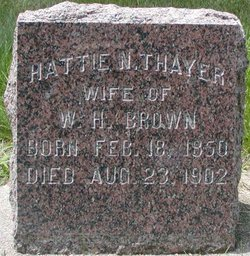 Hattie N <I>Thayer</I> Brown