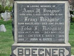 Anna M <I>Boegner</I> Bates