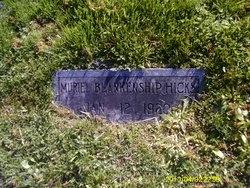 Muriel <I>Blankenship</I> Hicks