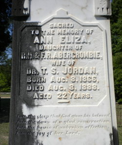 "Annie Eliza ""Ann"" <I>Abercrombie</I> Jordan"