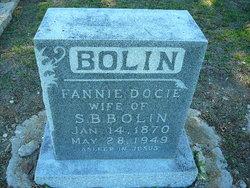 "Francis Docie ""Fannie"" <I>Christian</I> Bolin"