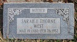 Sarah Ellen <I>Thorne</I> West