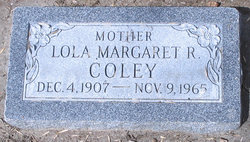 Lola Margaret <I>Richardson</I> Coley