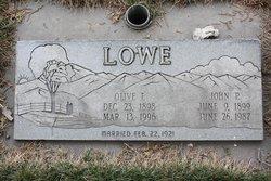 Olive Florence <I>Linedecker</I> Lowe