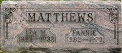 Ira M Matthews