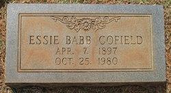 Essie <I>Babb</I> Cofield