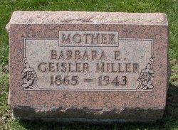 Barbara E <I>Geisler</I> Miller