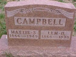 Martha 'Mattie' S. <I>Mace</I> Campbell