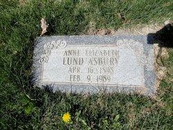 Anne Elizabeth <I>Lund</I> Asbury