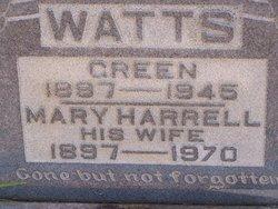 Mary Rebecca <I>Harrell</I> Watts