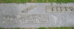 """Exie Evelyn """"Mimi"""" Fitts"""