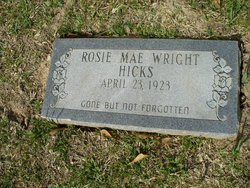 Rosie Mae <I>Wright</I> Hicks