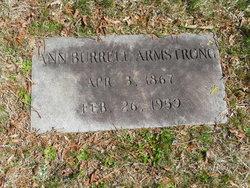 Ann <I>Burrell</I> Armstrong
