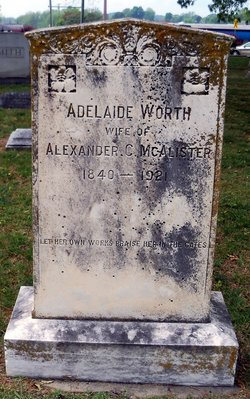 "Adelaide ""Addie"" <I>Worth</I> McAlister"