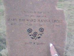 Mary Hayward <I>Hanna</I> Frost