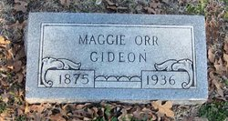 Maggie Gertrude <I>Orr</I> Gideon