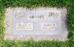 Ruby Hannah <I>Webster</I> Barnes
