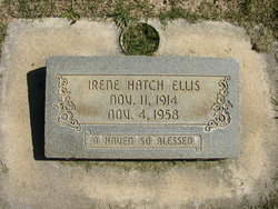 Irene Grant <I>Hatch</I> Ellis