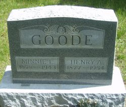 Minnie L <I>Mayes</I> Goode