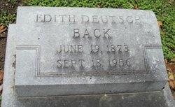 Edith <I>Deutsch</I> Back