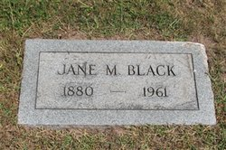 Jane Jennie M <I>Miller</I> Black