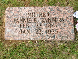 "Francis ""Fannie"" <I>Beckham</I> Sanders"