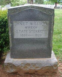 Janet Brown <I>Willson</I> Sterrett