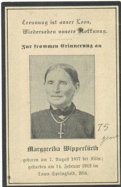 Margaretha <I>Wirtz</I> Wipperfurth