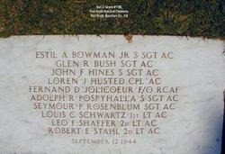 SSGT Estil A Bowman Jr.