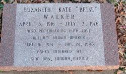 "Elizabeth Kate ""Betse"" <I>Mulkey</I> Walker"