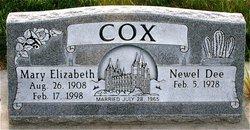 Mary Elizabeth <I>Peterson</I> Cox