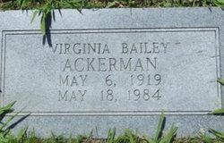 Virginia <I>Bailey</I> Ackerman