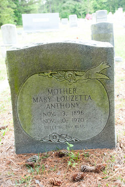 Mary Luzetta <I>Milliken</I> Anthony