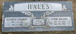 Julia Leona <I>Wignall</I> Hales