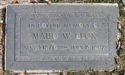 Maud <I>White</I> Beck