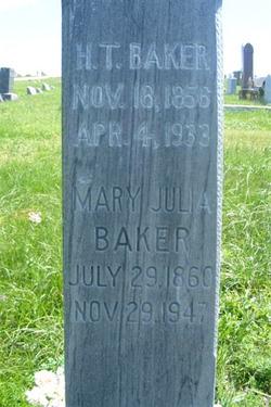 Mary Julia <I>Pike</I> Baker