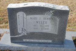 Mary Frances <I>Hewett</I> Welch