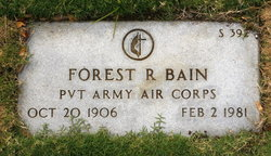 Pvt Forest Russell Bain