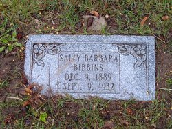 "Sarah Barbara ""Sally"" Bibbins"