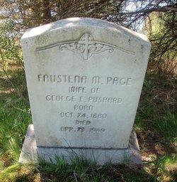 Faustena M <I>Page</I> Pushard