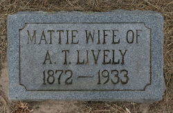 Mattie <I>Sammons</I> Lively