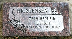 Mary Hatfield <I>Peterson</I> Christensen