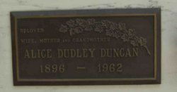 Alice E. <I>Dudley</I> Duncan